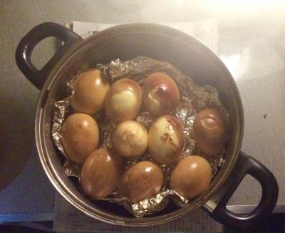 桜 ウッドチップ 燻製 スモーク ゆで卵 キャンプ アウトドア