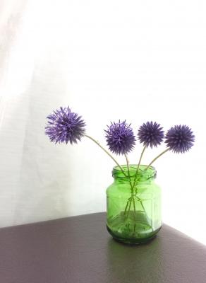 ルリタマアザミ 紫