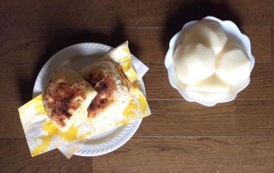 手作り パン バジル オリーブオイル ヒマラヤ岩塩 ペッパー フォカッチャ 新高梨 ハム チーズ