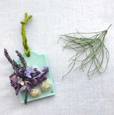 ワックスサシェ アロマ ドライフラワー ナチュラル スギナ スギナ茶 sachet aroma wax candle lavender horsetail tea