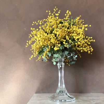 ミモザ キャンドル ホルダー スタンド ディスプレイ アメリカ ニュージャージー パラマス 図書館 mimosa dried floral arrangement candle holder stand garden fondly nj Paramus library