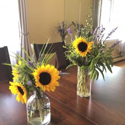 向日葵 夏 アレンジメント Sunflowers summer arrangements garden fondly