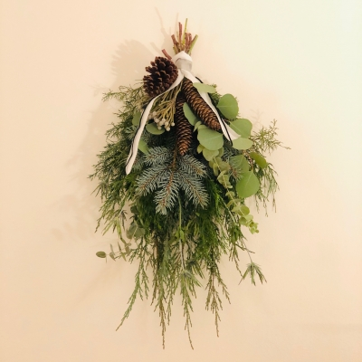Swag greenery foliage herb fragrance garden fondly スワッグ 壁掛け グリーン ハーブ 香り リラックス モダン