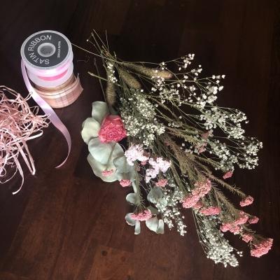 スワッグ デザイン ドライフラワー ピンク swag design dried flowers pink garden fondly