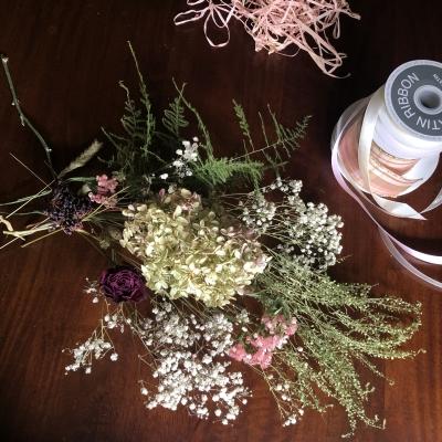 スワッグ デザイン ドライフラワー ハイドレンジア swag design dried flowers hydrangea  garden fondly