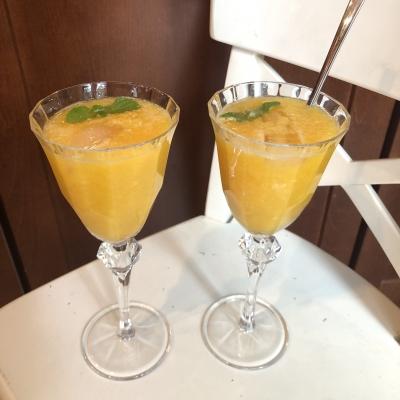 オレンジジュース 手作り ミント orange juice mint homemade USA New Jersey Garden Fondly