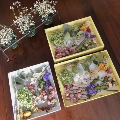 ドライフラワー リース素材 お子様レッスン アメリカニュージャージー dried flowers wreath materials kids lessons USA New Jersey Garden Fondly