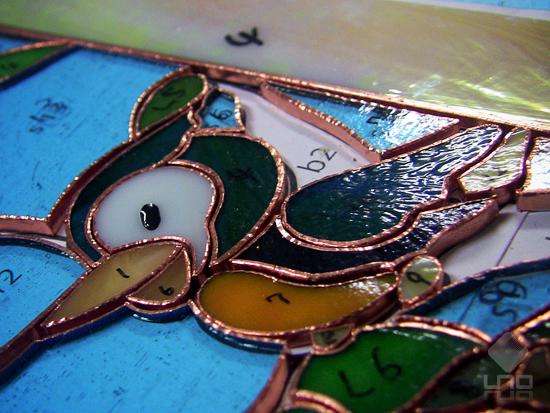 鳥 ステンドグラス