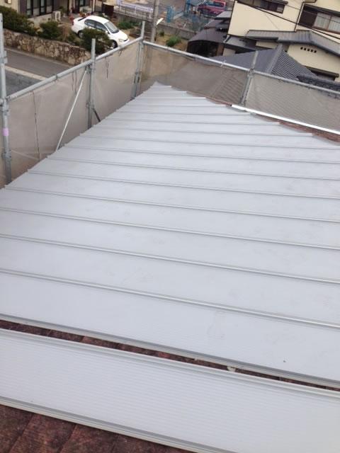 屋根ガルバニウム施工