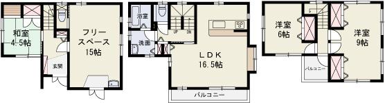 岡山市南区福成 中古住宅 間取