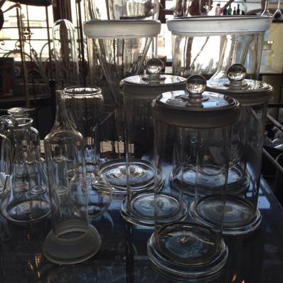 アンティーク ガラス保存瓶