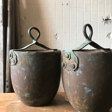 古道具 銅製 ツルベ