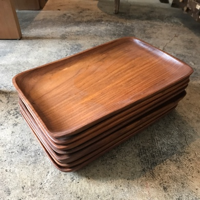 欅材 四方盆
