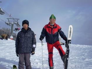 石打丸山スキー場にて