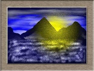 パソコン水彩画で夜明けをイメージしてみました!