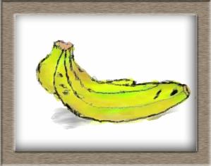 果物を水彩で