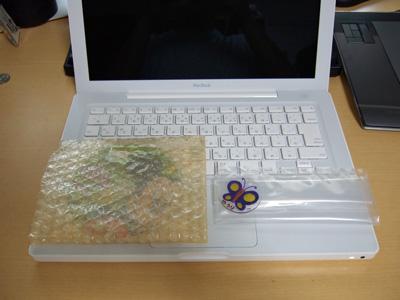 帰ってきたMacBookとDVDに異物