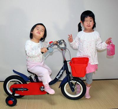 次女(2歳)の2009年クリスマスプレゼントは自転車でした。
