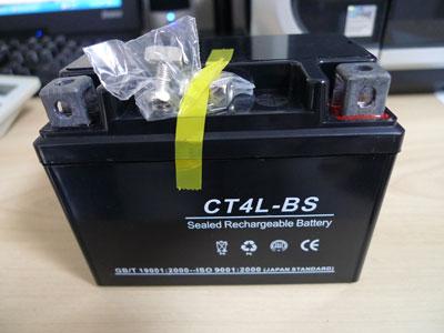 【液入充電済】CT4L-BS(YT4L-BS)タイプ バイクバッテリー 1年間保証付き