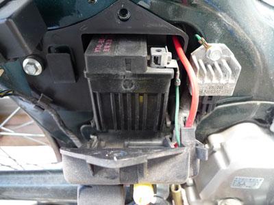 バッテリーが出てきます