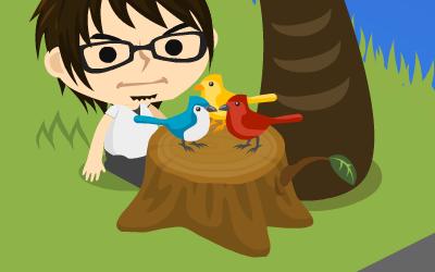 小鳥(拡大)[ameba pigg]