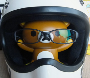 ヘルメットと眼鏡[リラックマ メガネスタンド]