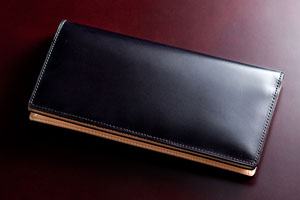 水染めコードバン・長財布