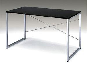 サンワダイレクト ワークデスク パソコンデスク PCデスク W1200×D600 パソコンテーブル ブラック 100-DESK039BK