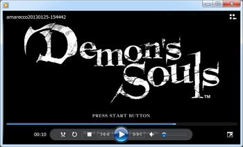 アマレコTVとアマレココでDemons Souls画面キャプチャー[Windows media player]