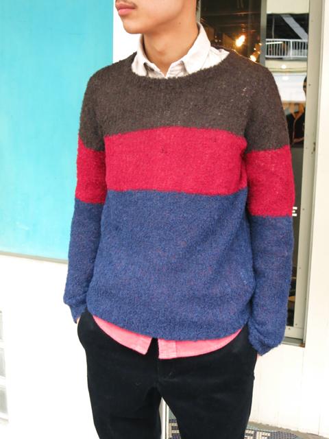 gaijinmade アルパカミックスクルーネックセーター.jpg