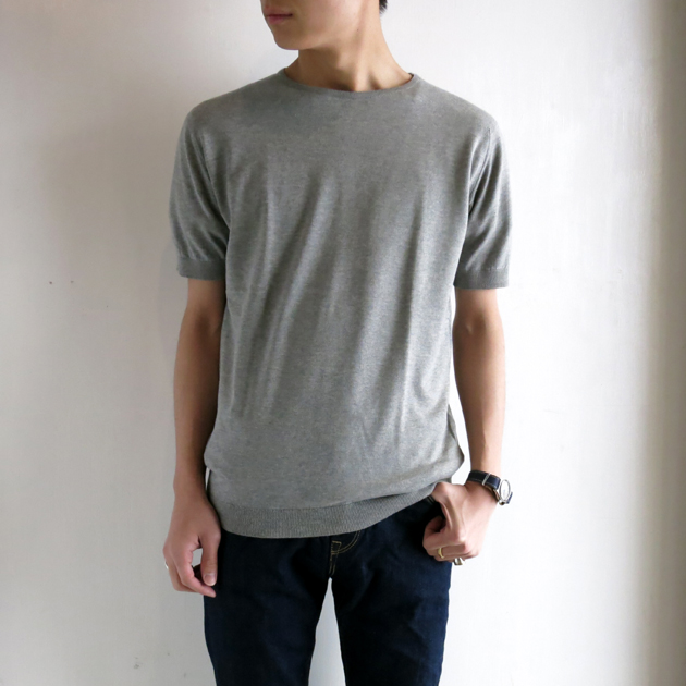 john smedley ジョンスメドレー ニットTシャツ (9).JPG