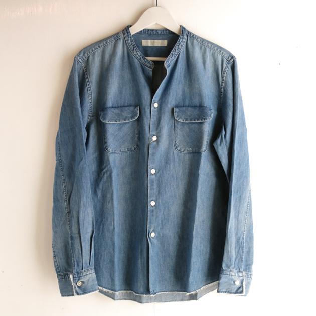 ワンズストローク  バンドカラーシャツ (2).JPG