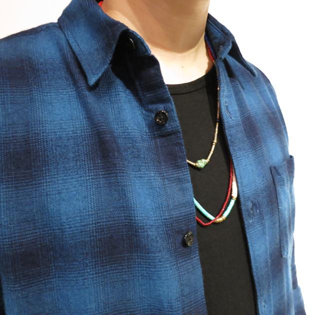 ガイジンメイド インディゴチェックロングシャツ (2).JPG