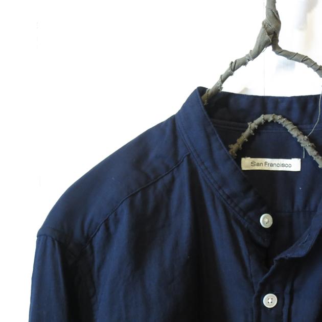 San Francisco バンドカラーシャツ4.JPG