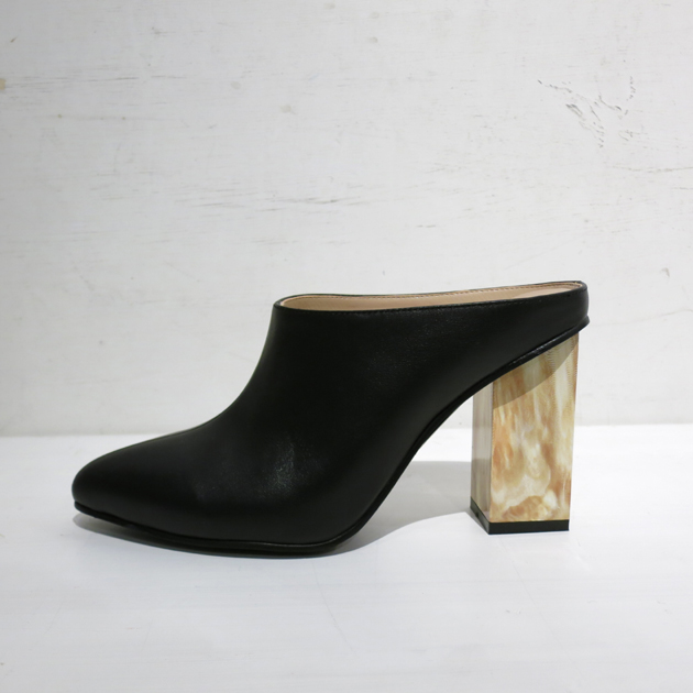 GVGV LEATHER MARBLE HEEL MULES1.JPG