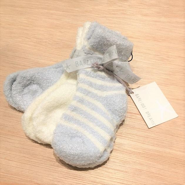 BAREFOOT DREAMS Infant socks 3pack1.JPG