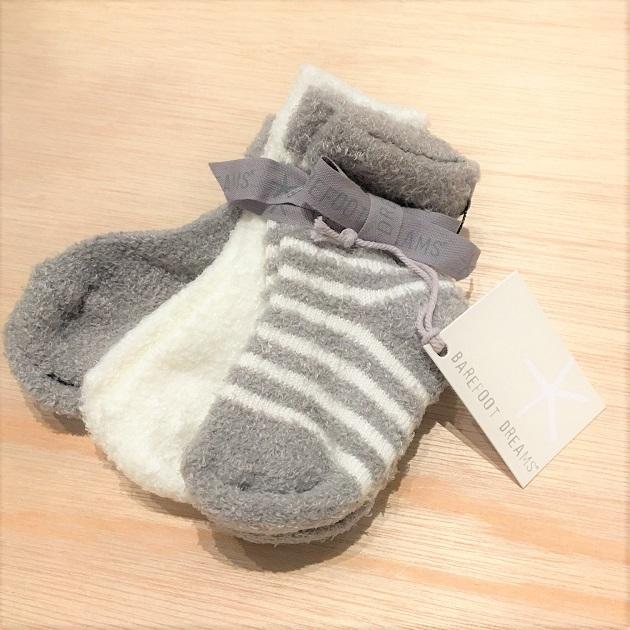 BAREFOOT DREAMS Infant socks 3pack2.JPG