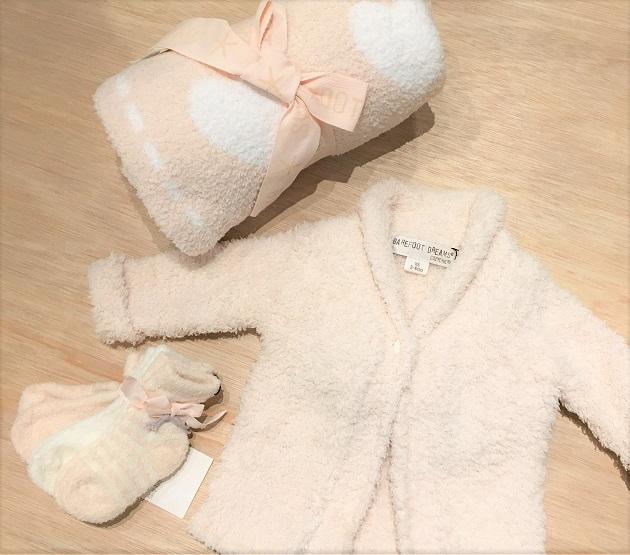 BAREFOOT DREAMS Infant socks 3pack7.JPG