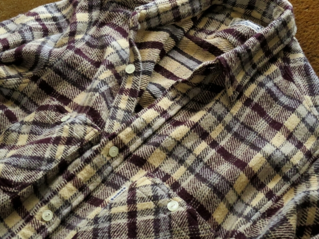 HOLLYWOOD RANCH MARKET ネルチェックシャツ.JPG