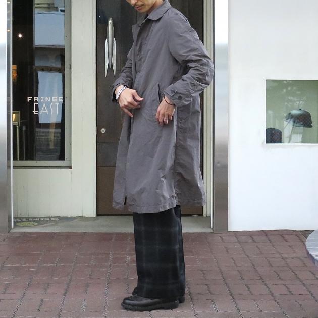 ScyeBASICS 高密度タフタ ステンカラ-コート.JPG