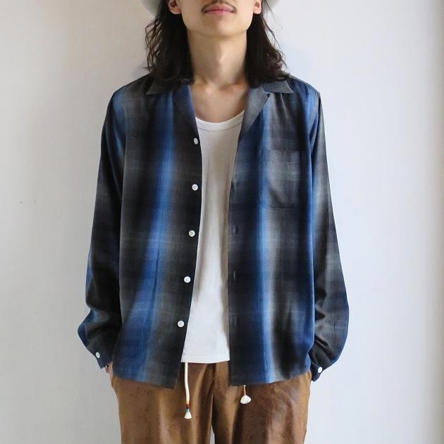 WACKOMARIA チェックシャツ オープンカラー オンブレ.JPG