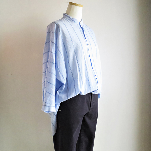 FLORENT ストライプバンドカラーシャツ(3).jpg