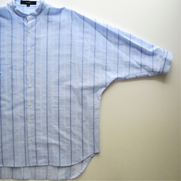 FLORENT ストライプバンドカラーシャツ(4).jpg