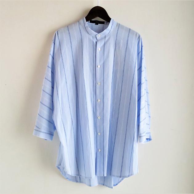 FLORENT ストライプバンドカラーシャツ.jpg