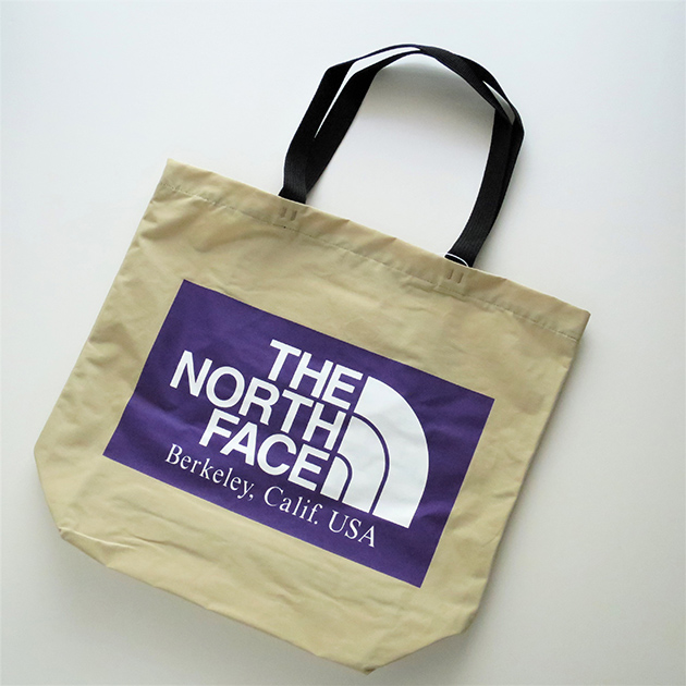 THE NORTH FACE PURPLE LABEL LOGO PRINT TOTE BEIGE.jpg