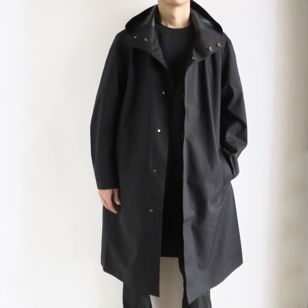 DESCENTE PAUSE デサントポーズ WOOL MIX OVER FOODED COAT.jpg