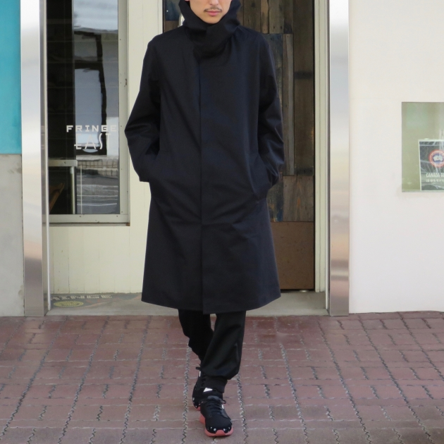 DESCENTE PAUSE デサントポーズ WOOL MIX OVER FOODED COAT5.jpg