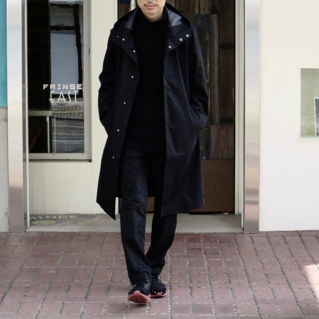 DESCENTE PAUSE デサントポーズ WOOL MIX OVER FOODED COAT6.jpg