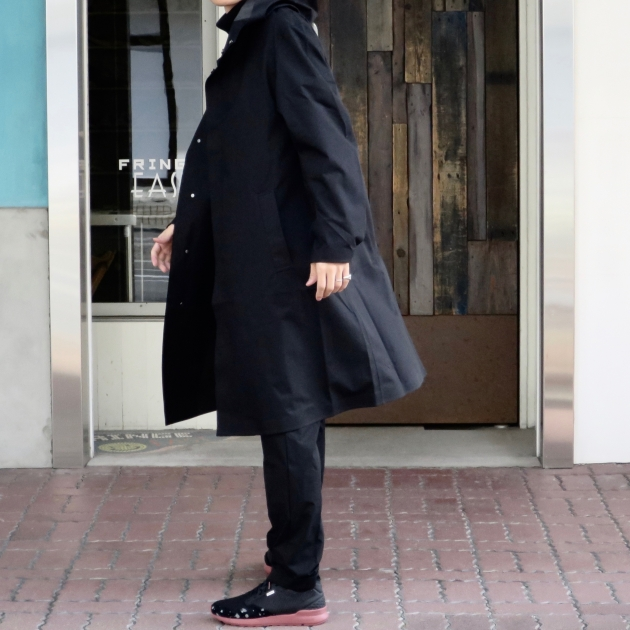 DESCENTE PAUSE デサントポーズ WOOL MIX OVER FOODED COAT8.jpg