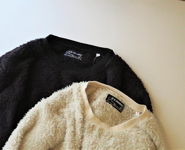 HOLLYWOOD RANCH MARKET ボアフリース クルーネックシャツ(3).jpg